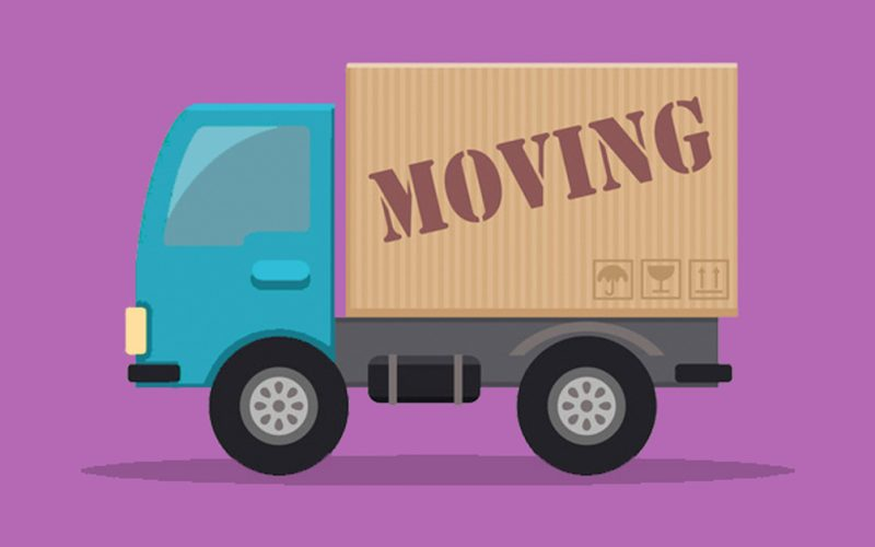 Moving truck to represent web page redirection